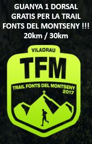 sorteig trail fonts del montseny