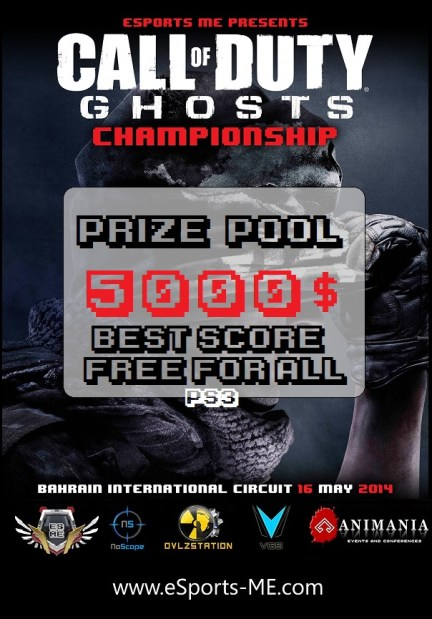 eSports Middle East prsents Call of Duty ghosts 5000$ tournaments - Bahrain