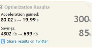 webo optimization result