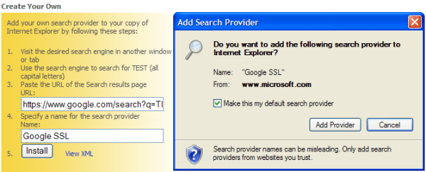 image add search providers to IE