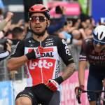 Giro d'Italia la Notaresco-Termoli a Caleb Ewan. Domenica arrivo a Campo Felice