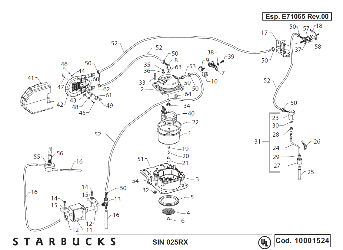 La Marzocco Linea Parts Diagram