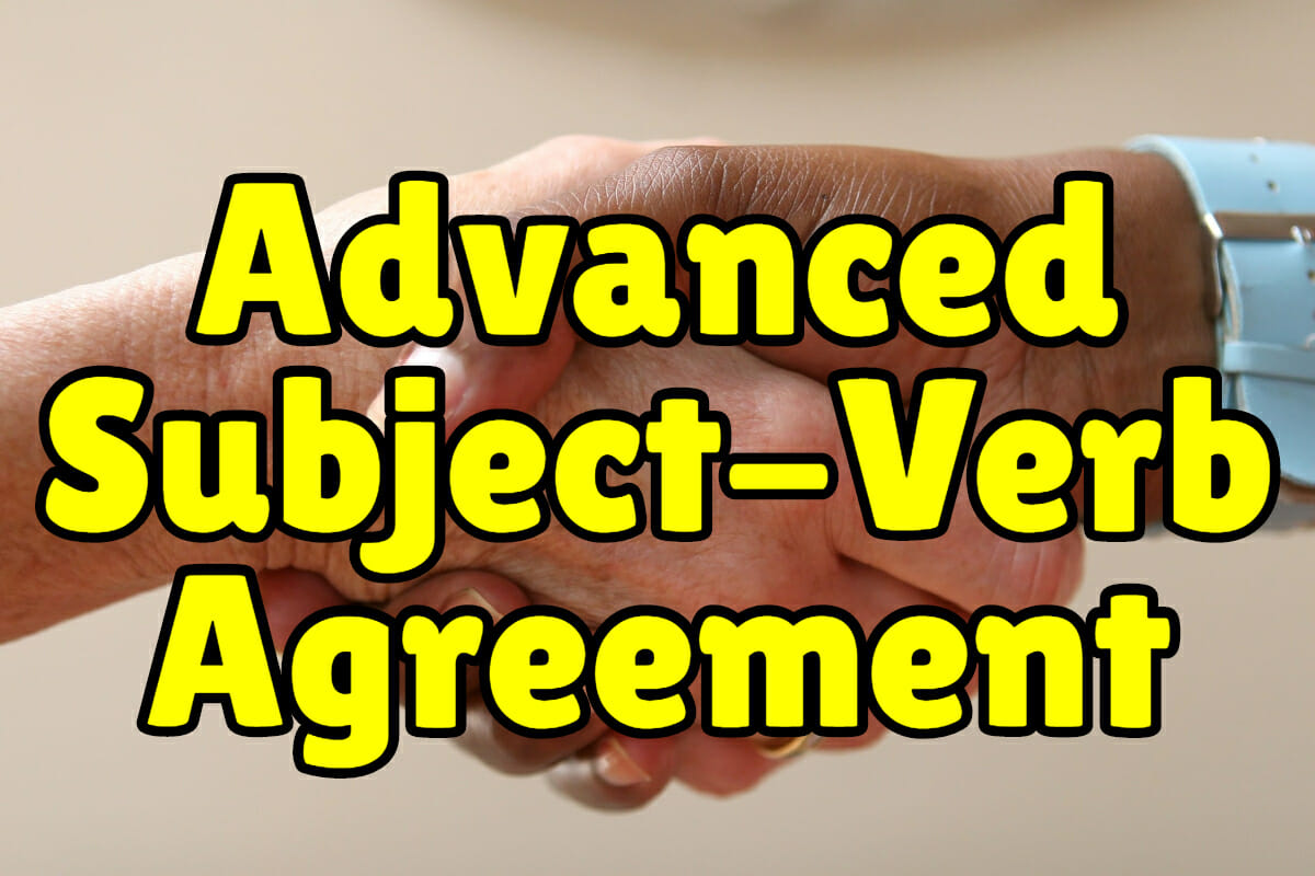 Subject Verb Agreement Worksheet English For Everyone