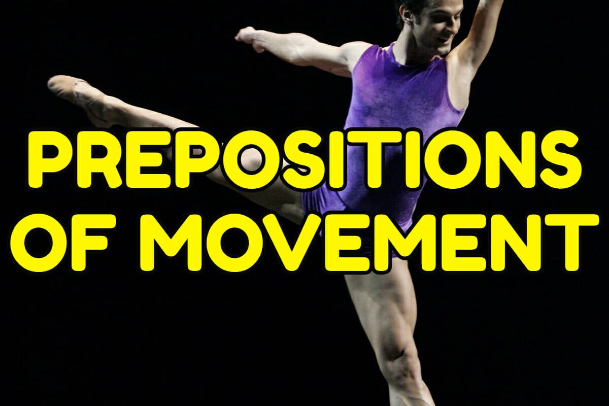 Prepositions Of Movement In English Espresso English