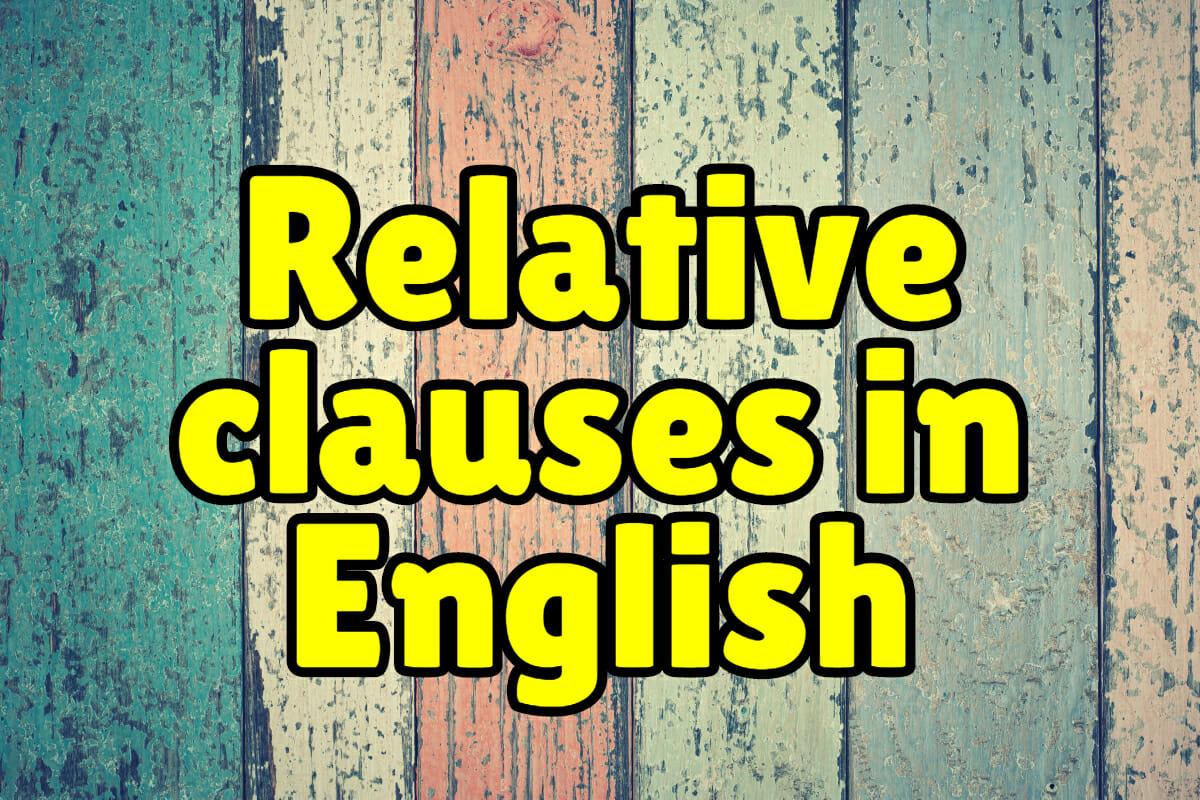 Relative Clauses Exercises Espresso English