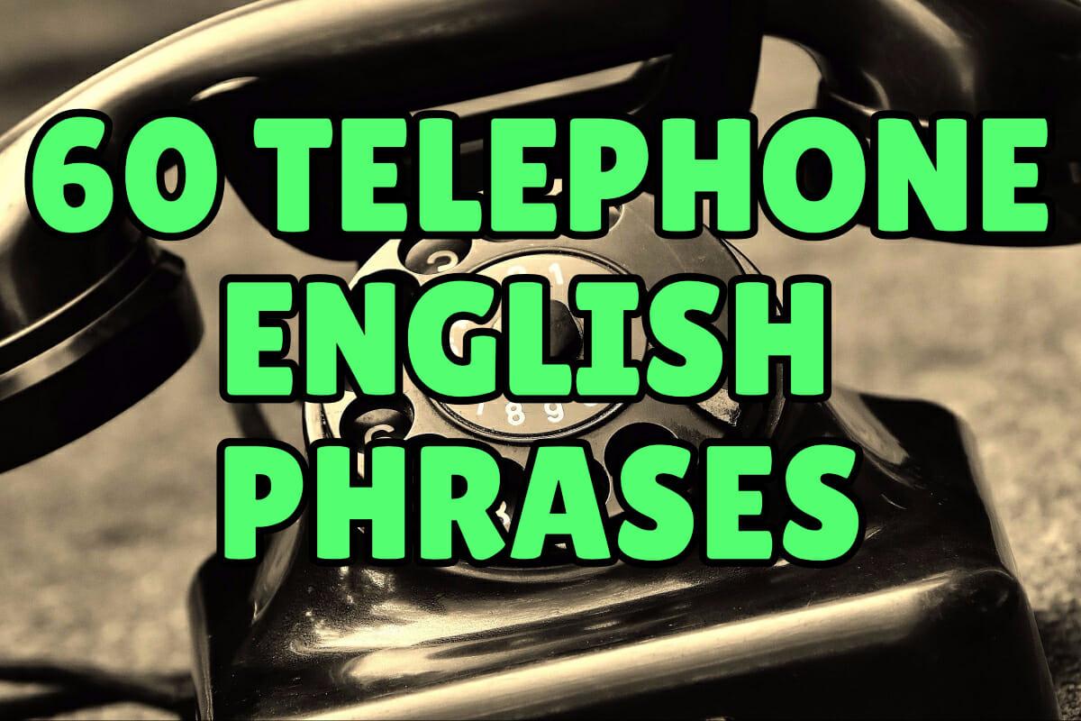 Telephone English Phrases Espresso English
