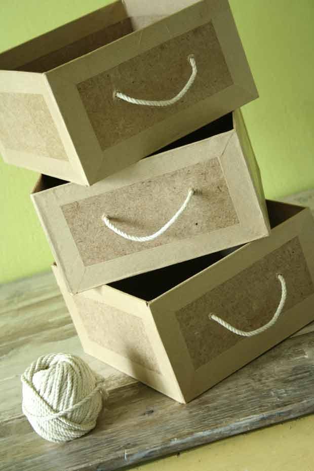 meubles en carton esprit cabane