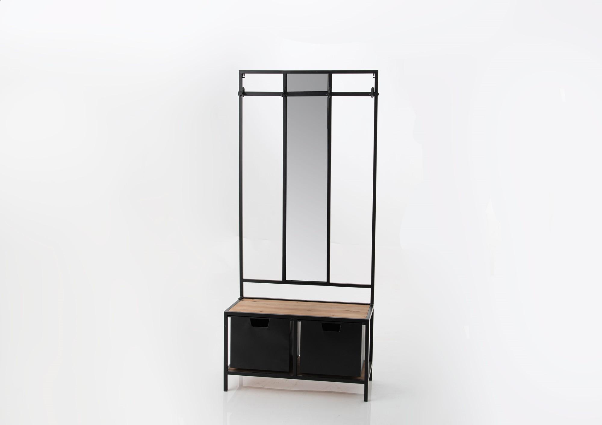 meuble d entree vestiaire avec miroir