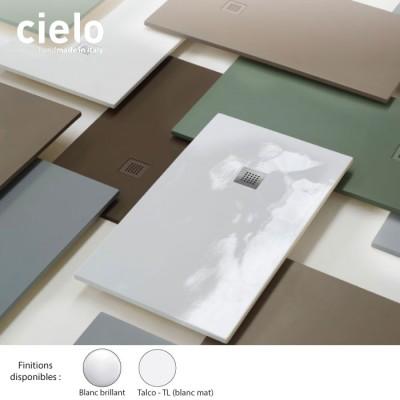 receveur douche rectangulaire blanc infinito extraplat 80 cm ceramique 10 longueurs