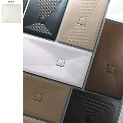 receveur douche rectangulaire blanc pluston extraplat ceramique 19 dimensions
