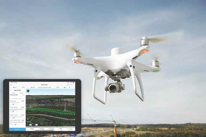 Drone and iPad with Site Scan App