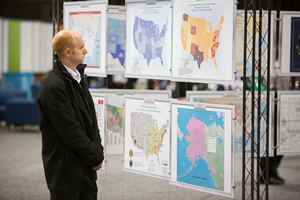 Esri software users displayed their projects in the Map Gallery.