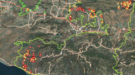 This map contains free and open data layers from arcgis living atlas of the world that relate to improving situational awareness around wildland fires. Wildfire Maps Response Support Disaster Response Program Esri Uk Ireland