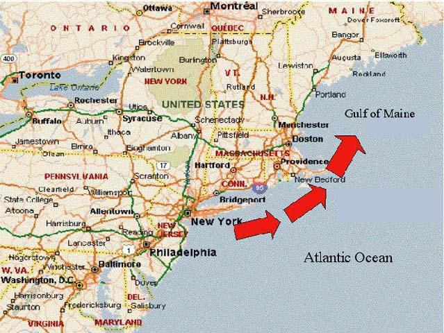 Large Map Northeastern United States