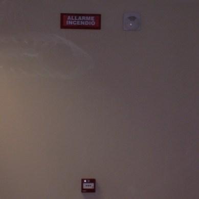Impianto antincendio, luci di emergenza