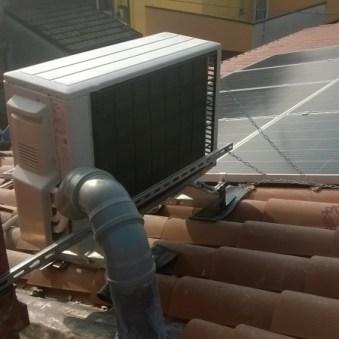 Impianto fotovoltaico e motore aria condizionata