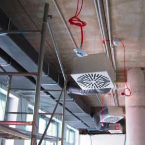 Canalizzazione aria e sensori antincedio