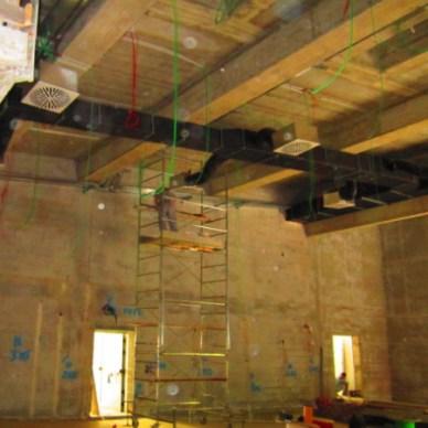 Impianto trattamento aria industriale e collegamenti elettrici