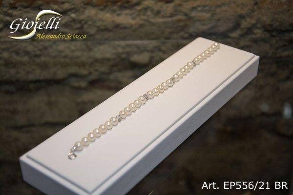 EP556-21-BR - Bracciale in perle naturali