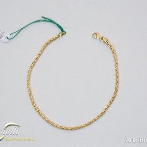 Bracciale unisex maglia bizantina in oro giallo- BRE71