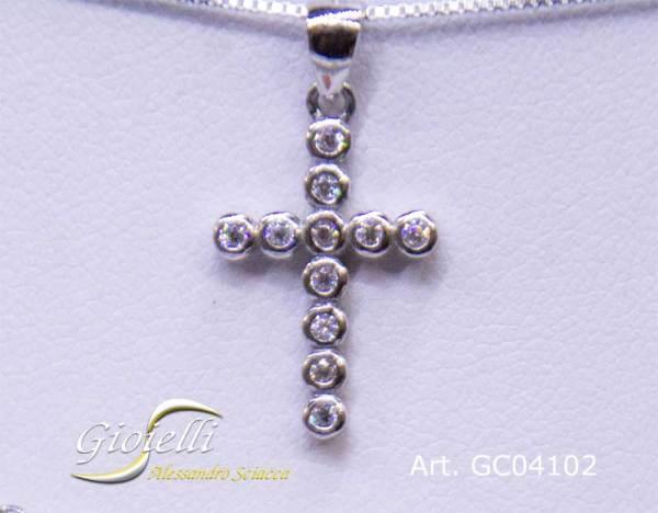 Girocollo in argento con pendente Croce