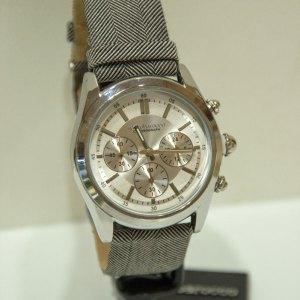Orologio cronografo cinturino in tessuto sartoriale e pelle