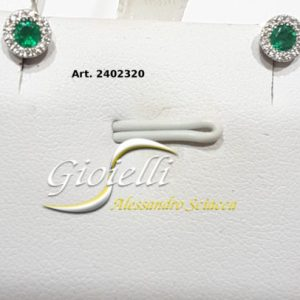 orecchini diamanti e smeraldi