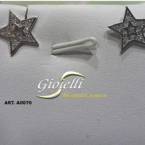 orecchini a stella con zirconi