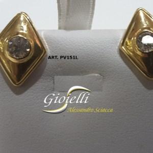 orecchini oro giallo con zirconi