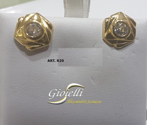 orecchini oro giallo intreccio