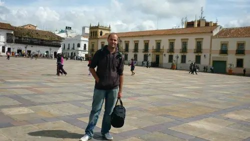 Plaza Bolívar em Tunja
