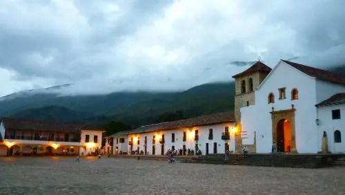 Anoitecer em Villa de Leyva