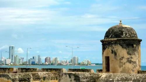 Vista para a parte nova de Cartagena