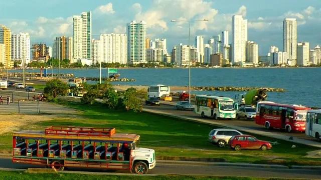 Chiva em Cartagena de Indias - Colômbia