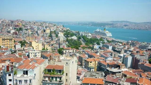 Estreito do Bósforo visto da Torre de Galata - Istambul (Foto: Esse Mundo É Nosso)
