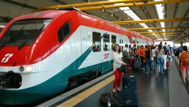Leonardo Express no Aeroporto Roma Fiumicino (Foto: Esse Mundo É Nosso)