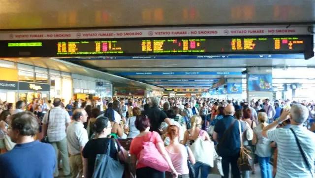 Movimentadíssima estação Roma Termini (Foto: Esse Mundo É Nosso)