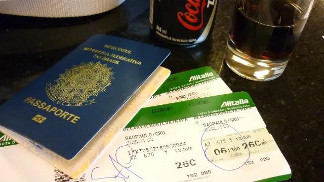Como é voar Alitalia (Foto: Esse Mundo É Nosso)