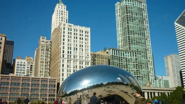 Cloud Gate - The Bean - Região de The Loop em Chicago (Foto: Esse Mundo é Nosso)