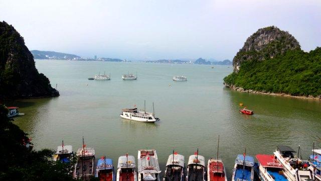 Vista da Thien Cung Cave em Halong Bay, Vietnã (Foto: Esse Mundo É Nosso)