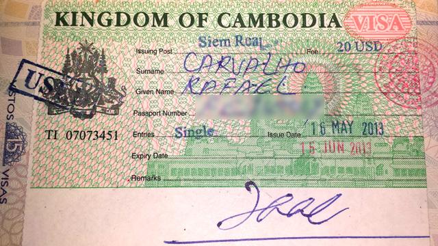 Visto Para o Camboja (Foto: Esse Mundo É Nosso)