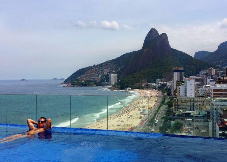 A piscina mais bonita do Rio - Praia Ipanema Hotel (Foto: Esse Mundo É Nosso)