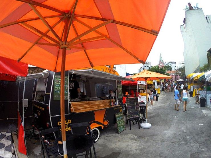 Espaço Urbanoide - Food trucks na Rua Augusta (Foto: Esse Mundo É Nosso)