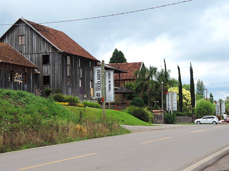 Casa da tecelagem no Caminhos de Pedra em Bento Gonçalves