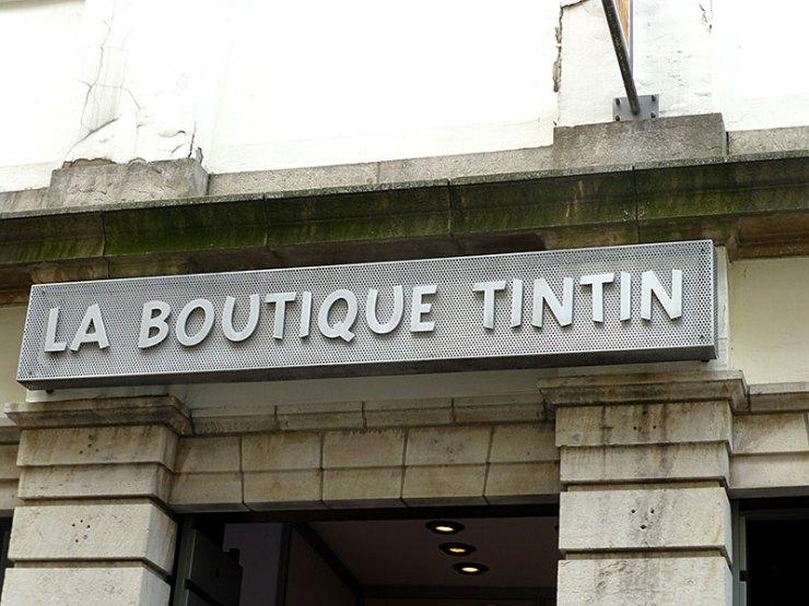 Boutique Tintin em Bruxelas (Foto: Esse Mundo é Nosso)