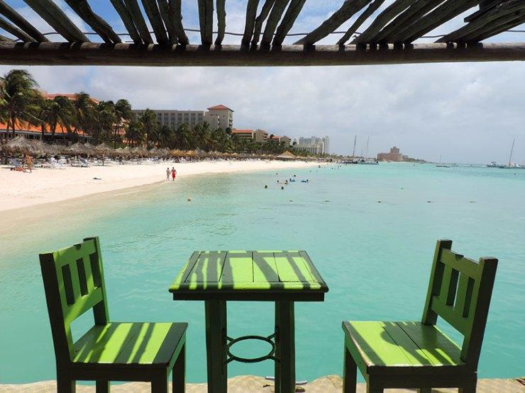 Praias de Aruba - Bugaloe, Palm Beach (Foto: Esse Mundo É Nosso)