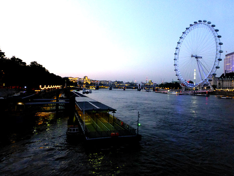 Roda gigante de Londres (Foto: Esse Mundo é Nosso)