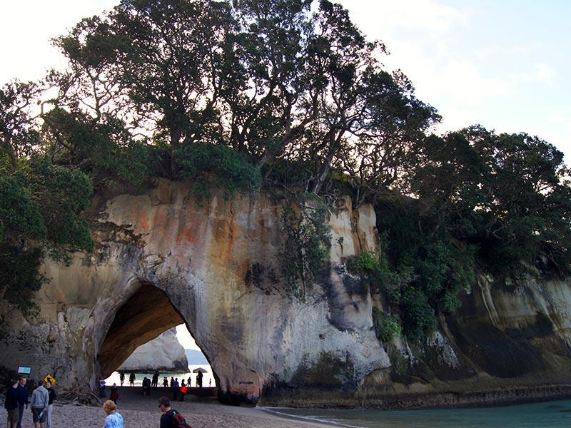 Cathedral Cove, Nova Zelândia (Foto: Henrique Bezerra/Esse Mundo É Nosso)