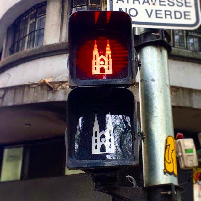 Semáforos de São Paulo (Foto: Esse Mundo É Nosso)