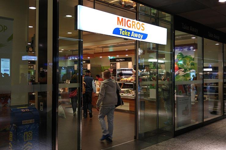 Suíça gastando pouco - Migros (Foto: Esse Mundo É Nosso)